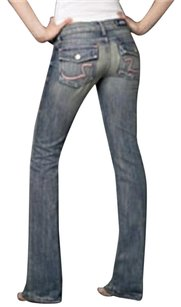 Rock & Republic Long Legged Chic Summer Boot Cut Jeans-Light Wash