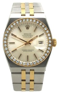 Rolex 17013 Datejust Two-Tone 1ct diamond bezel Mens Quartz Watch