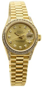 Rolex 18K Datejust 69178 Diamond 26mm Ladies Watch