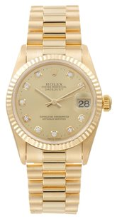 Rolex 18k Datejust Diamond 31mm Unisex Presidential Watch