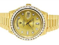 Rolex 18k Mens 36mm Yellow Gold Rolex 18038 Presidential Day-date Diamond Watch Ct