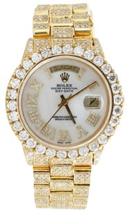 Rolex 18k Yellow Gold Mens Diamond Rolex Presidential Day-date 36mm Watch 23.45 Ct.