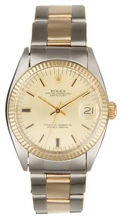 Rolex 18K Yellow Gold Stainless Steel Datejust Two-Tone 31mm Unisex Watch