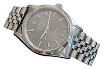 Rolex Mens Rolex Air-king No Date Stainless Steel Watch Wslate Dial 14000