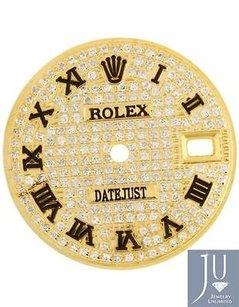 Rolex Custom Full Diamond Dial For Rolex Datejust Lady 26mm 6917 69173 69178