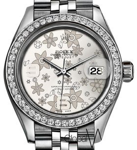 Rolex Flower Face Ladies Rolex 31mm Datejust Jubilee Genuine Diamond Bezel
