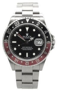 Rolex GMT Master Stainless Steel Black Dial Men's Watch