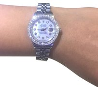 Rolex Ladies Rolex 26mm Datejust White Pearl Diamond Stainless Steel
