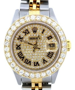 Rolex LADIES ROLEX DATEJUST 3CT DIAMOND WATCH WITH ROLEX BOX & APPRAISAL