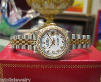 Rolex Ladies Rolex Oyster Perpetual Datejust 18k Diamonds