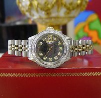Rolex Ladies Rolex Oyster Perpetual Datejust Diamonds Mother-of-pearl Gold Steel Watch