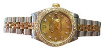 Rolex Ladies Rolex Oyster Perpetual Datejust Two-tone 18k Yellow Gold Steel Diamonds