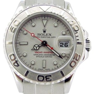 Rolex Ladies Rolex Stainless Steel Platinum Yacht-master Date Watch 29mm 169622