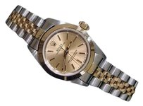Rolex Lady Rolex 2tone 18k Goldstainless Steel Oyster Perpetual Watch Champagne 67183