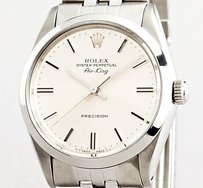 Rolex Men Rolex Stainless Steel Air-king No-date Watch Wjubilee Band Silver Dial 5500