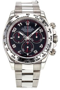 Rolex Men's Cosmograph Daytona 116509 Watch in 18K White Gold with Black Dial RLXDW2