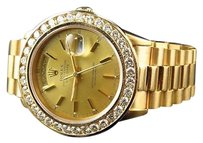 Rolex Mens Mm Rolex Day-date Presidential 18038 18k Yellow Gold Diamond Watch Ct