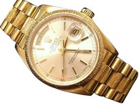 Rolex Mens Rolex Day-date President 18k Yellow Gold Watch Wsilver Stick Dial 18038