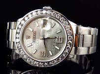 Rolex Mens Rolex Mm Datejust Oyster Bezel Stainless Steel Diamond Watch Ct
