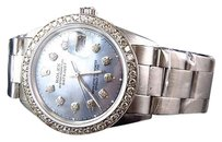 Rolex Mens Rolex Mm Datejust Oyster Pave Mop Stainless Steel Diamond Watch Ct