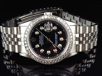 Rolex Mens Rolex Mm Datejust Oyster Quickset Stainless Steel Diamond Watch Ct