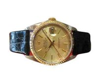 Rolex Mens Rolex Oyster Perpetual Datejust 18k Gold Stainless Steel With Tuxedo Dial