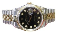 Rolex Mens Rolex Oyster Perpetual Datejust Diamond Jubilee Dial Yellow Gold Ssteel