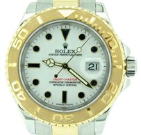 Rolex Mens Rolex Two-tone 18k Yellow Goldstainless Steel Yacht-master White 16623