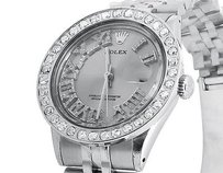 Rolex Mens Stainless Steel Rolex Datejust Jubilee Mm With Roman Number Watch Ct