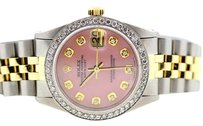Rolex MIDSIZE ROLEX DATEJUST 31MM DIAMOND BEZEL WATCH