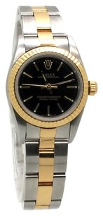 Rolex Oyster Perpetual 18K Yellow Gold and Stainless Steel Ladies Watch