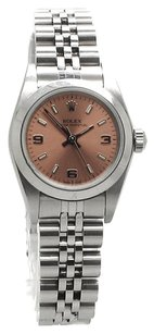 Rolex Oyster Perpetual No Date Stainless Steel Copper Dial Ladies Watch