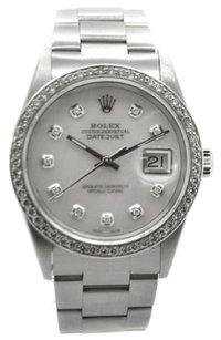 Rolex Rolex DateJust Stainless Steel Custom MOP Diamond Dial & Bezel Men's Watch