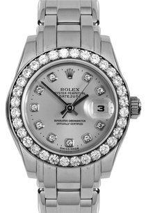 Rolex Rolex 18K White Gold Diamond Datejust Pearlmaster Watch 80299