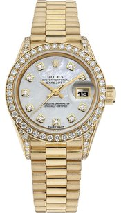 Rolex Rolex 18K Yellow Gold Datejust Custom Diamonds Ladies Presidential Watch