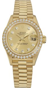 Rolex Rolex 18K Yellow Gold Datejust Custom Diamonds Ladies Watch
