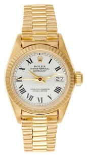 Rolex Rolex Datejust 18K Yellow Gold White Roman Dial Ladies Presidential Watch