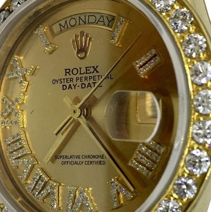 Rolex Rolex 18K Yellow Gold President Genuine Diamonds Roman Numeral 36mm