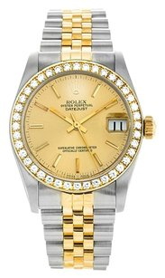 Rolex Rolex 31mm Mid-size Custom Jubilee Bezel & Flower Dial DateJust Watch