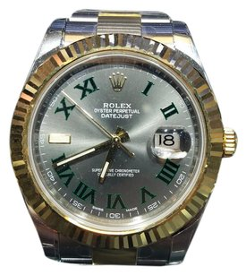Rolex Rolex 41mm Datejust II 116333 Grey with Green