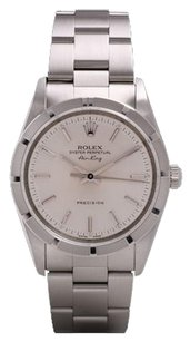 Rolex Rolex Air-King Stainless Steel White Stick Dial Watch 14000