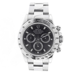 Rolex Rolex Cosmograph Daytona Stainless Steel - Black Dial 116520 Wrist Watch For Men