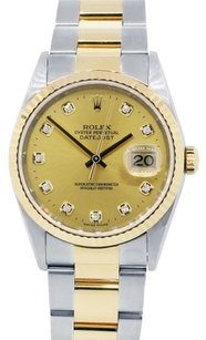 Rolex Rolex Datejust Stainless Steel and 18K Yellow Gold Men's Watch