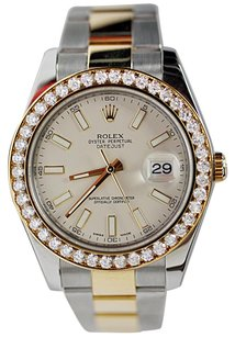 Rolex ROLEX DATE JUST II 116333 2-TONE 18K Gold Steel 41MM GOLD DIAMOND BEZEL NEW