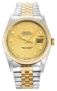 Rolex ROLEX DATEJUST CUSTOM DIAMOND DIAL MEN'S WATCH