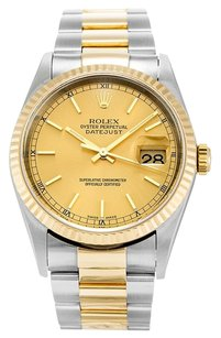 Rolex ROLEX DATEJUST STAINLESS STEEL AND YELLOW GOLD MEN'S WATCH