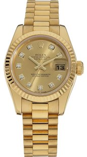 Rolex Rolex Datejust 18K original Diamond Champagne Dial Ladies Watch
