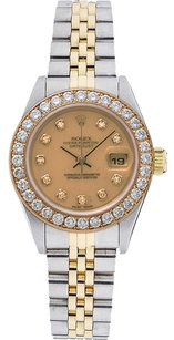 Rolex Rolex Datejust 18K Yellow Gold and Stainless Steel Custom Diamond Ladies Watch