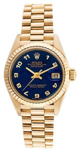 Rolex Rolex Datejust 18K Yellow Gold Blue Jubilee Dial Ladies Presidential Watch