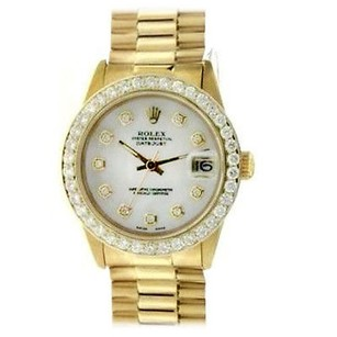 Rolex Rolex Datejust 18k Yellow Gold Diamond Mop Dial Automatic Midsize Watch 6827